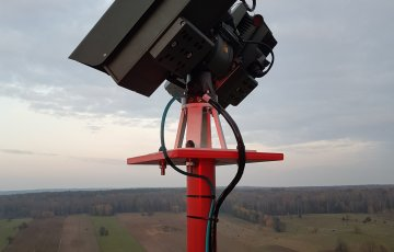 Optoelectronic system on the Border Guard observation tower
